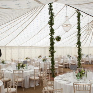 Traditional marquee interior